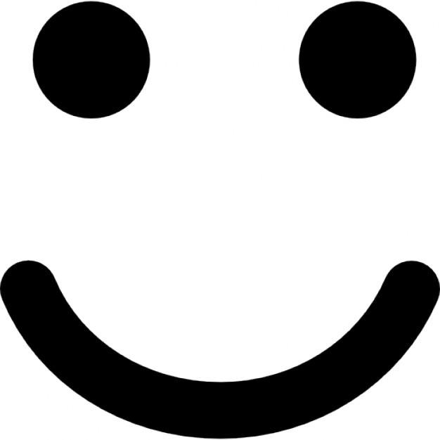 Smiling emoticon squar...