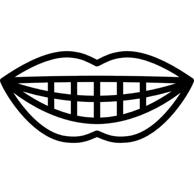 Smiling mouth showing teeth Icons   Free Download