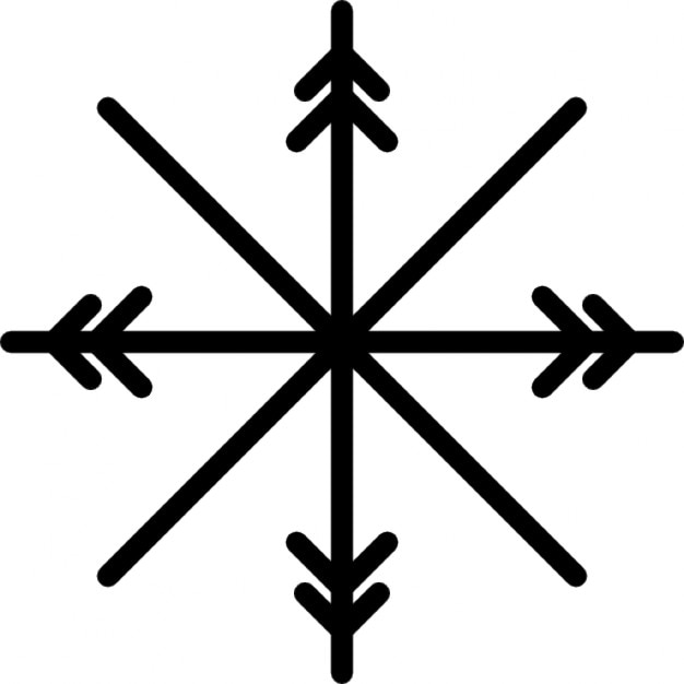 Snowflake Cross Or Star Icons Free Download