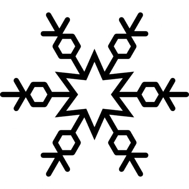 Snowflakes with six point star outline icons free download snowflakes with six point star outline free icon sciox Images