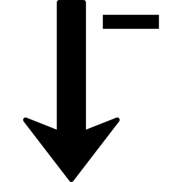 Sort Down Arrow Symbol With A Minus Sign Icons Free Download
