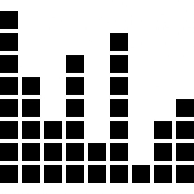 Sound bars made of boxes Icons   Free Download