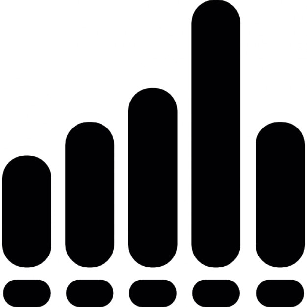 Sound wave bars Icons | Free Download