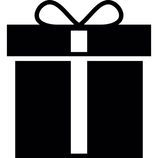 Special gift with white ribbon Icons | Free Download