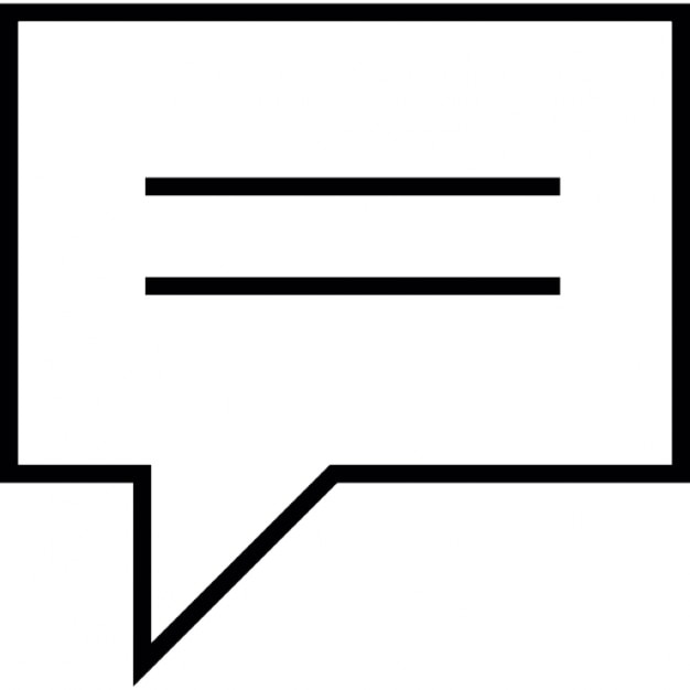 Speech bubble black rectangular shape with two white text lines ios speech bubble black rectangular shape with two white text lines ios 7 interface symbol free altavistaventures Choice Image