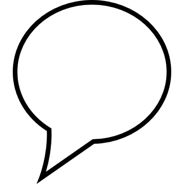 speech bubble in white ios 7 interface symbol icons free download rh freepik com