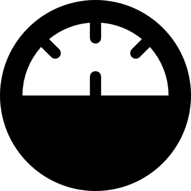 Speedometer Circular Tool Symbol For Speed Control On Vehicles Icons
