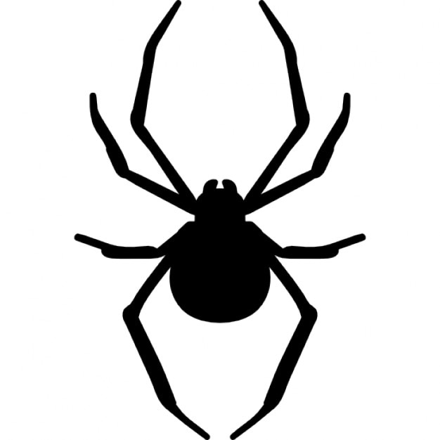 Spider arthropod animal silhouette Icons | Free Download