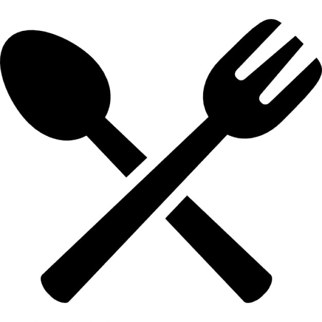 spoon and fork crossed icons free download rh freepik com fork knife spoon clip art free fork and spoon clip art free