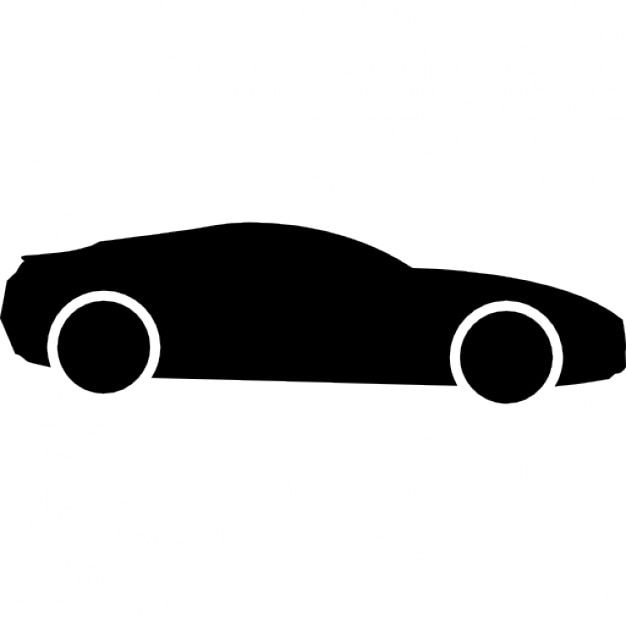 Sport Car Black Side Shape Icons Free Download