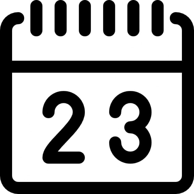 spring square calendar outline free icon