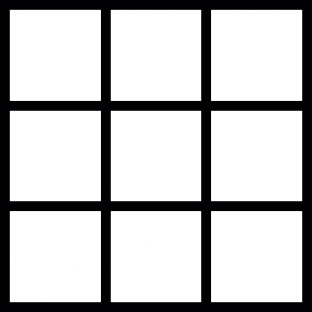 Square grid icons free download for 9 square architecture