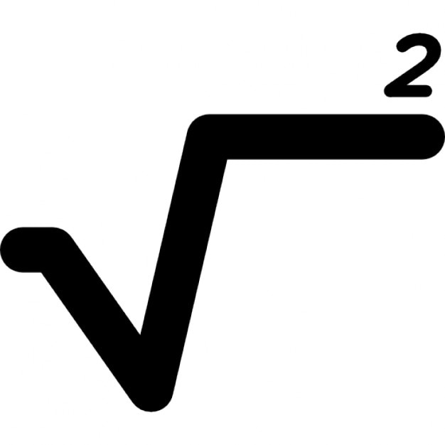 Square Root Mathematical Sign Icons Free Download