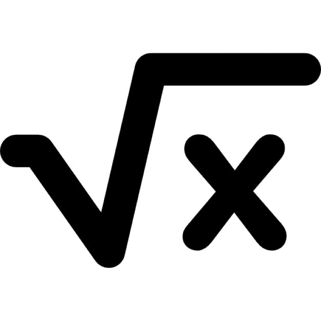 Square Root Of X Mathematical Signs Icons Free Download