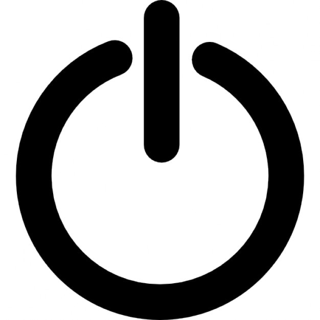 Standby, power button Free Icon