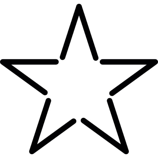 Star fivepointed shape outline in white icons free download star fivepointed shape outline in white free icon sciox Images