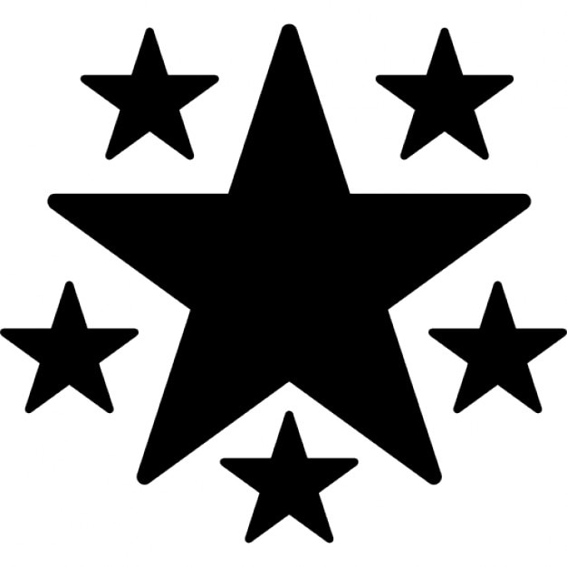 Star Of Fivepointed Shape With Five Stars Icons Free Download