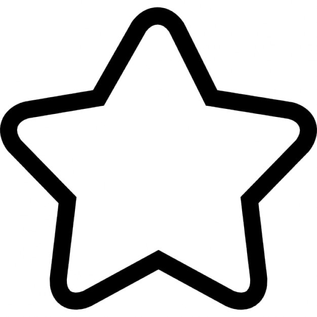 star outline of five points icons free download