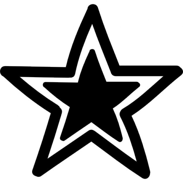 Star outline with black smaller star inside icons free download star outline with black smaller star inside free icon sciox Gallery