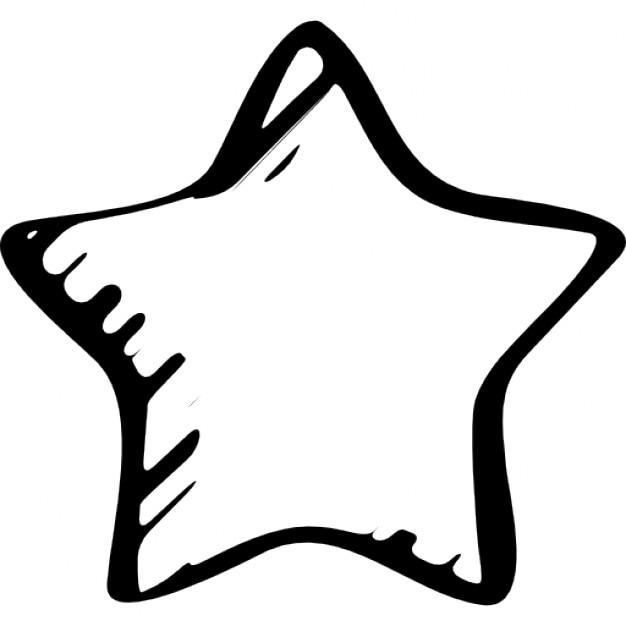 Star Sketched Favourite Symbol Icons Free Download