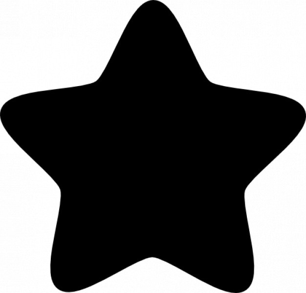 Star with five rounded points Free Icon