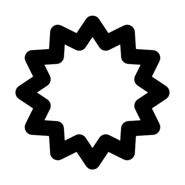 Starburst Outline Icons