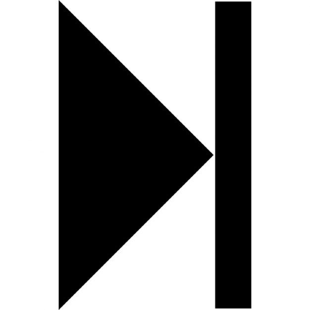 Step Forward Control Button Symbol Of Triangular Right Arrow