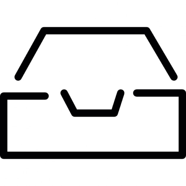 storage drive outline icons