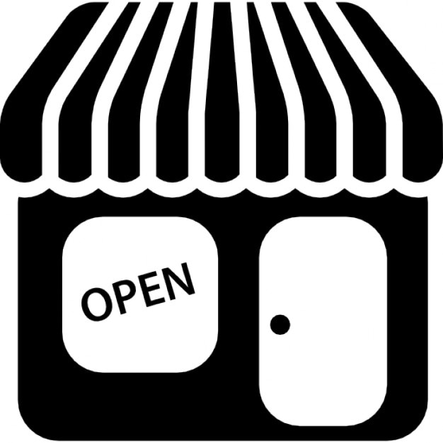 Store With Open Signal Icons Free Download