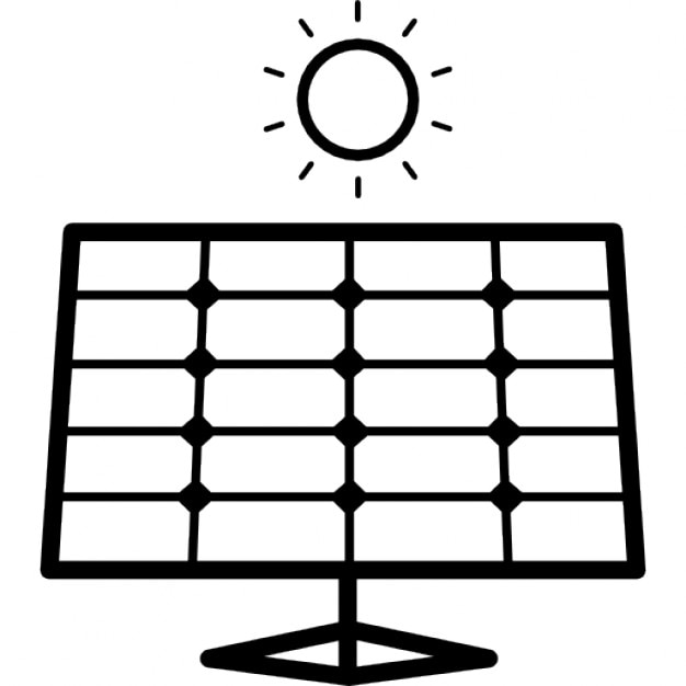 Straight View Of Solar Panel Icons Free Download