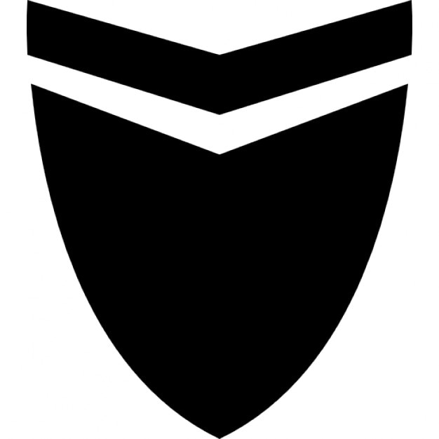 Shield Icon Black And White Striped shield icons free download