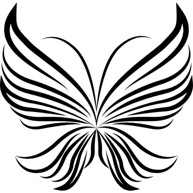 Interior Beautiful Design stripes wings light butterfly beautiful design from top view icons free icon