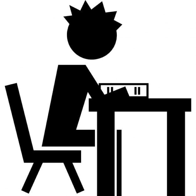 Black Student Sitting At Desk