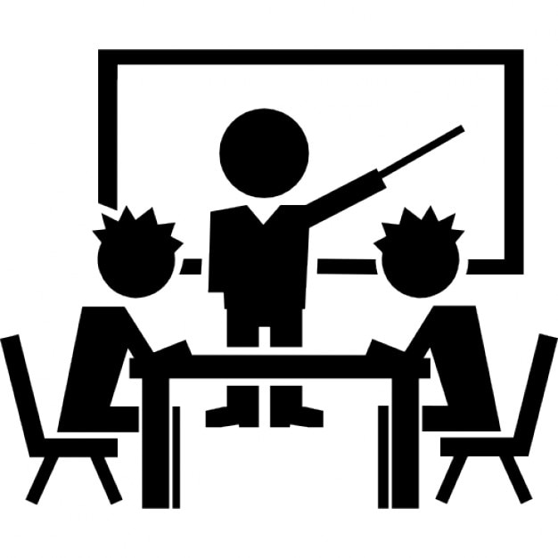 Book Icon Vector Male Student Or Teacher Person Profile: Students On Class Icons