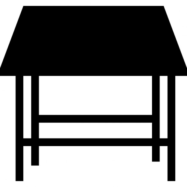 Studio Table Silhouette Perspective Icons Free Download