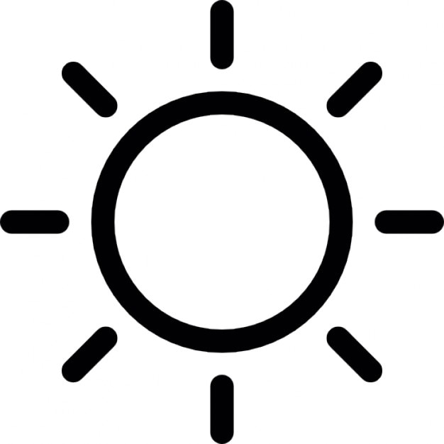 Line Drawing Sun Vector : Sun outline icons free download