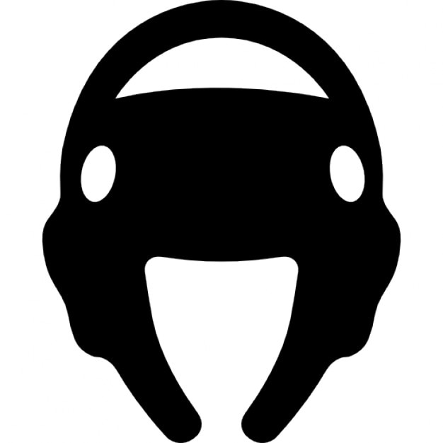 Taekwondo Helmet Silhouette Icons Free Download
