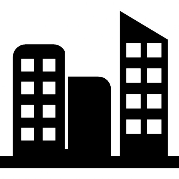 Tall Buildings In A City Icons Free Download