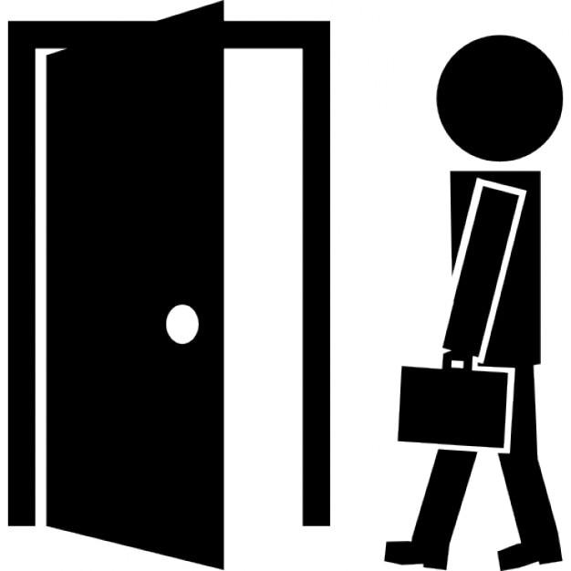 Teacher and open class door Free Icon  sc 1 st  Freepik & Teacher and open class door Icons | Free Download