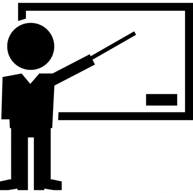 Book Icon Vector Male Student Or Teacher Person Profile: Teacher Pointing Blackboard Icons