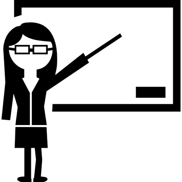 Teacher showing on whiteboard Icons | Free Download Whiteboard Icon Image