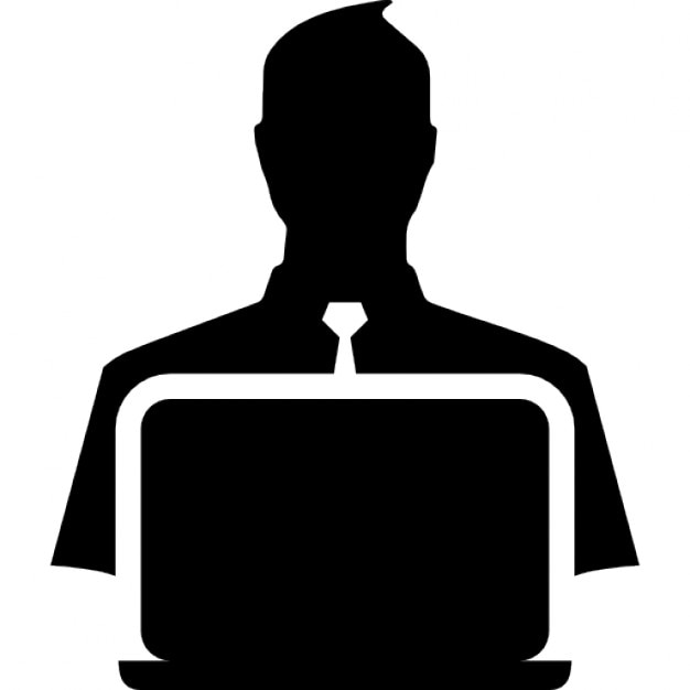 Book Icon Vector Male Student Or Teacher Person Profile: Teacher With Laptop Icons