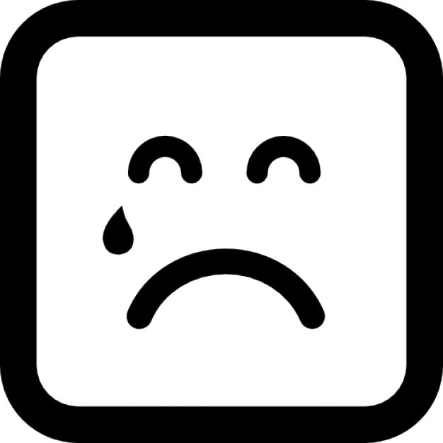 Teardrop Falling On Sad Emoticon Face Icons Free Download