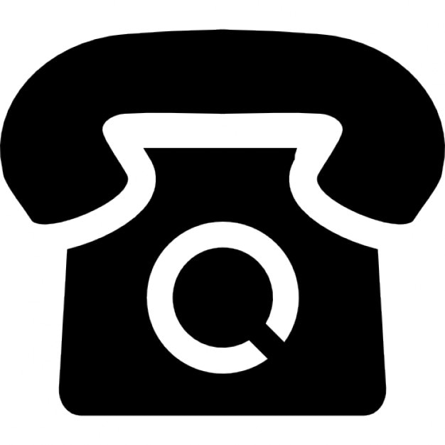 telephone of vintage style and black shape icons free download. Black Bedroom Furniture Sets. Home Design Ideas