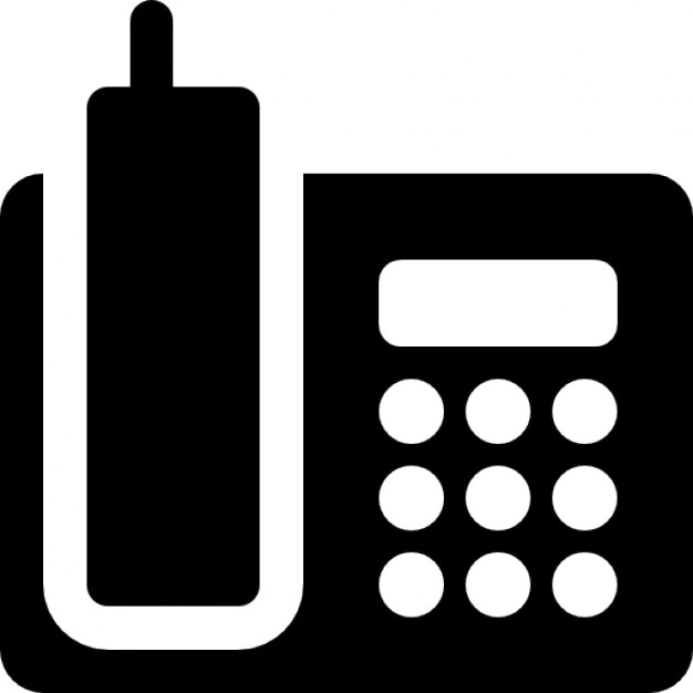 Telephone On Base Icons Free Download
