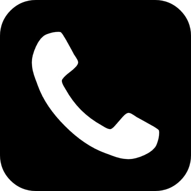 Telephone symbol button Free Icon