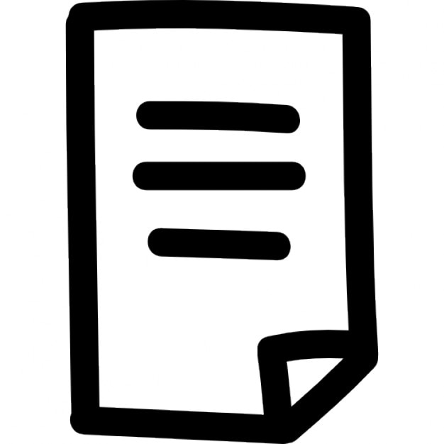 text document hand drawn symbol icons free download