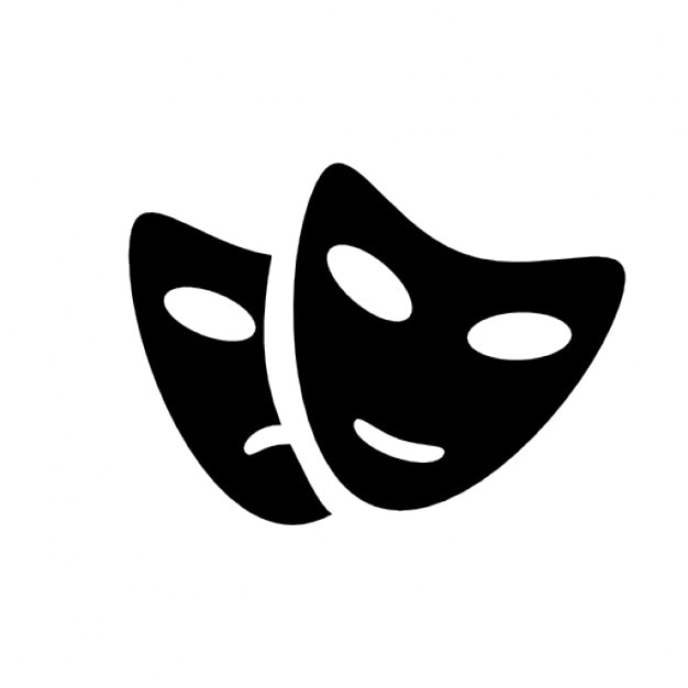 Theatre masks Icons   Free Download