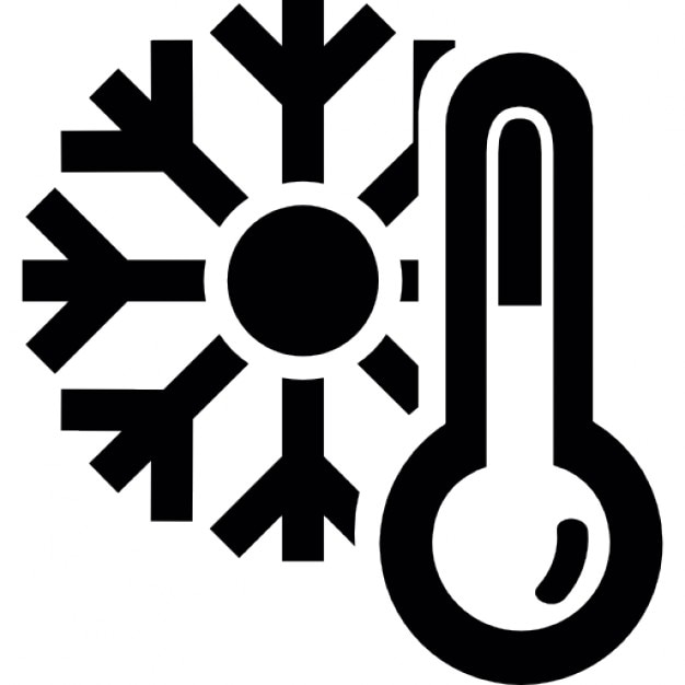Thermometer And A Snowflake Cold Winter Weather Symbol Icons Free
