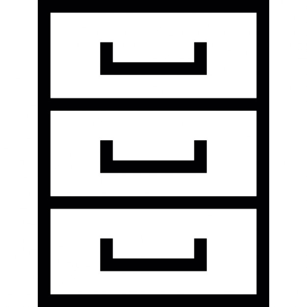 Three boxed cabinet Icons | Free Download